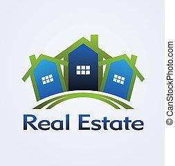 ægte, begreb, konstruktion, estate