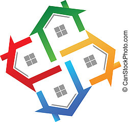ægte, logo, vektor, estate