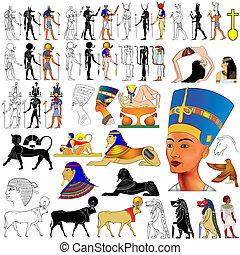 ægypten, ancient, vector-