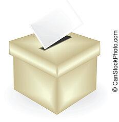 æske, stemmeseddel, illustration