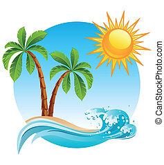 ø, tropisk