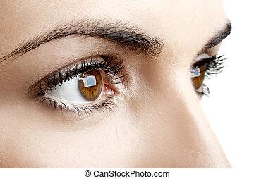 øjne, kvindelig