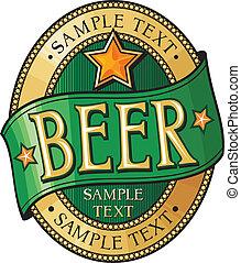 øl, konstruktion, etikette