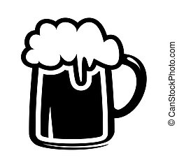 øl krus, ikon