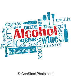 -, gloser, sky, alkohol