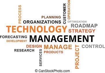 -, ledelse, glose, sky, teknologi