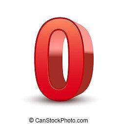 0, skinnende, antal, rød, 3