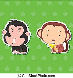 02, cute, stickers, dyr