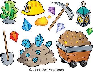 1, mining, tema, samling