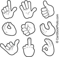 #2, cartoon, hænder