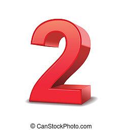 2, skinnende, antal, rød, 3