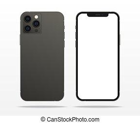 2020:, professionel, skærm, sort, tashkent, inc.., mock, hvid, 7, november, iphone, udvikl, -, mockup, smartphone, 12, apparat, oppe, nye, iphone, uzbekistan, æble, mockup.
