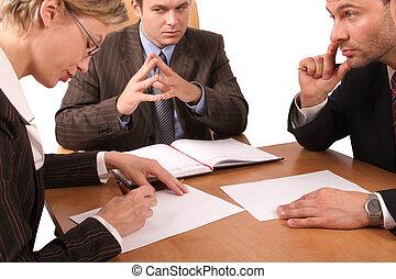 3, møde, firma