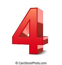 3, skinnende, 4, rød, antal