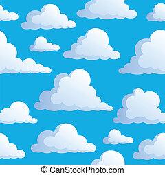 3, skyer, seamless, baggrund