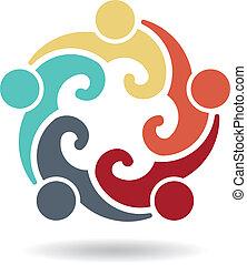 5-, blog, gruppe, folk