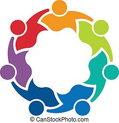 7, firma, teammates, image., logo