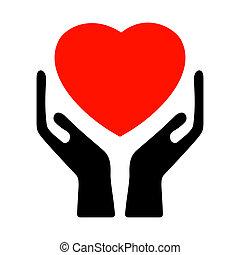8, heart., eps, hånd ind hånd