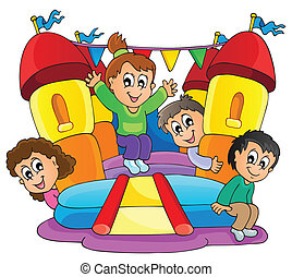 9, spill, børn, tema, image