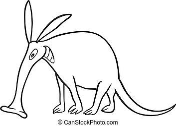 aardvark, coloring bog