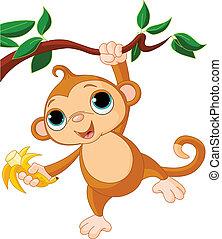 abe, baby, træ