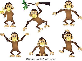 abe, cartoon, samling