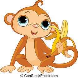 abe, morsom, banan