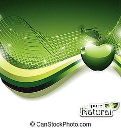 abstrakt, æble, baggrund