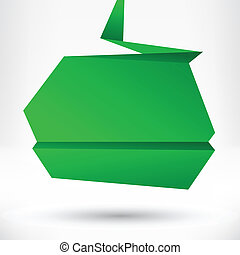 abstrakt, baggrund., vektor, tale, origami, boble, style.