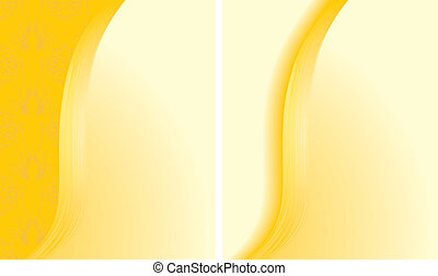 abstrakt, baggrunde, to, gul