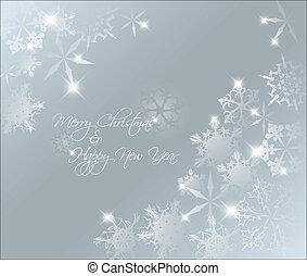 abstrakt, blå baggrund, jul, vektor, lys