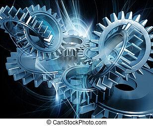 abstrakt, det gears