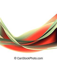 abstrakt, farverig, bølge