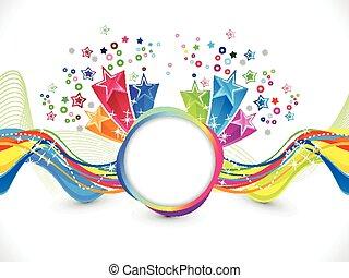 abstrakt, farverig, kunstneriske, bølge