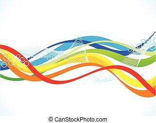 abstrakt, farverig, kunstneriske, baggrund, bølge