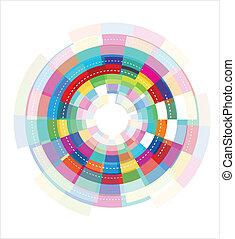 abstrakt, farverig, skabelon