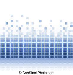 abstrakt, firkantet, aqua, pixel, mosaik