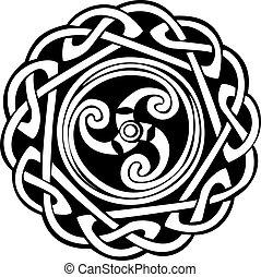abstrakt formgiv, keltisk