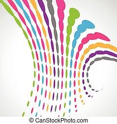 abstrakt formgiv, kunstneriske, farverig, bølge