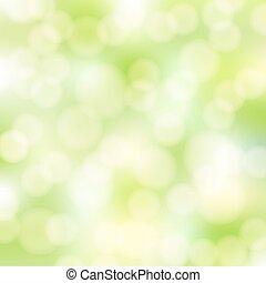 abstrakt, grønne, bokeh, baggrund