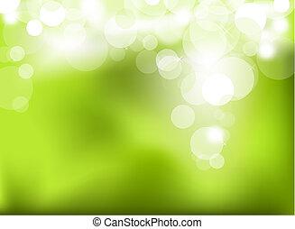 abstrakt, grønne, glødende, baggrund