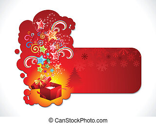 abstrakt, kunstneriske, mærkaten, jul