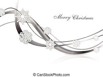 abstrakt, metal, sølv, baggrund, jul