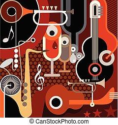 abstrakt, musik, baggrund