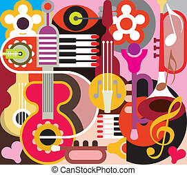 abstrakt, musik