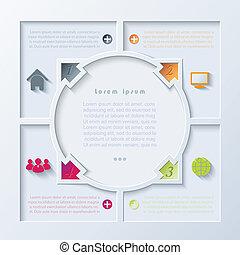 abstrakt, pile, infographic, konstruktion, cirkel