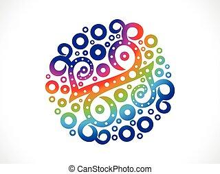abstrakt, regnbue, blomstrede, kreative, kunstneriske