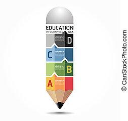abstrakt, skabelon, nummererede, bruge, linjer, infographics, konstruktion, /, vektor, website, cutout, blyant, bannere, infographic, horisontale, grafik, minimale, firmanavnet, blive, opsætning, eller, dåse