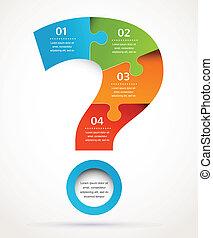 abstrakt, spørgsmål marker, infographics, konstruktion, baggrund