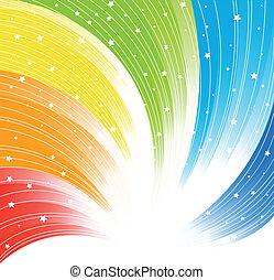 abstrakt, vektor, farverig, baggrund